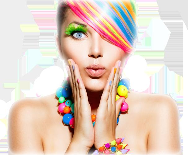 woman colorful makeup flip2